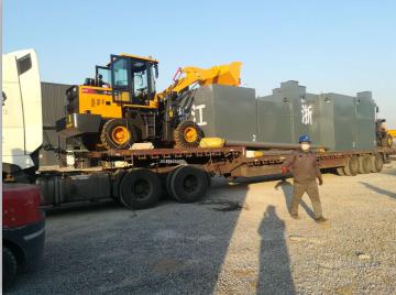 浙江某地区一体化污水处理设备发货
